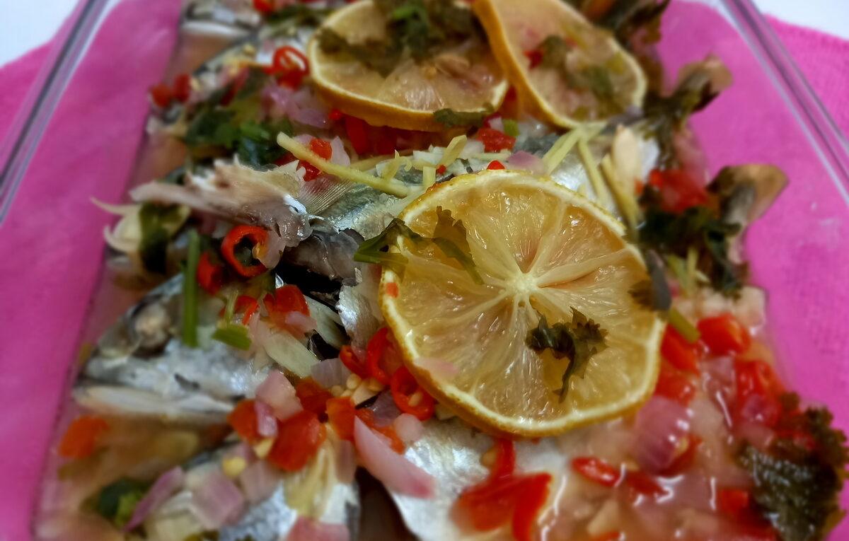 Ikan Kembung Stim Lemon